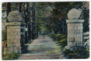 Worcester, Mass, Entrance To Green Park