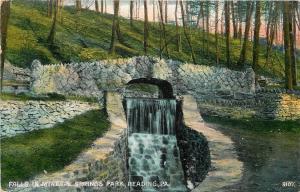 Reading Pennsylvania~Falls in Mineral Springs Park~Stone Bridge~1907