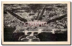 Postcard Old Palace of Versailles View Aerienne