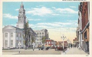WINCHESTER, Kentucky, 1910-20s; Main Street