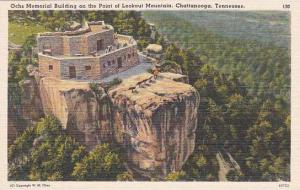 Tennesse Chattanooga Ochs Memoriial Building On The Point At Lookout Mountain