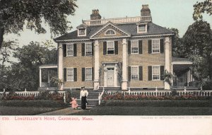 Longfellow's House, Cambridge, Massachusetts, Early Postcard, unused