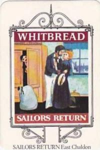 Whitbread Brewers Vintage Trade Card Maritime Inn Signs 1974 No 7 Sailors Ret...