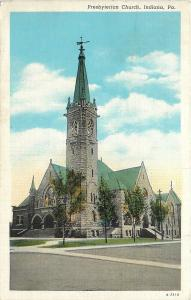 Indiana Pennsylvania~Presbyterian Church~1943 Postcard