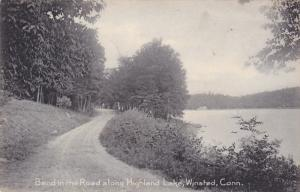 bend in Road along Highland Lake , WINSTED , Connecticut , PU-1907