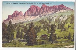 Italy Alps South Tyrol Karerpass Rosengarten Postcard
