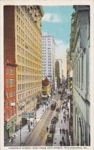 Pennsylvania PhiladelphiaChestnut Street East From 16th Street