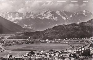 RP, Oberau gegen Wetteringebirge mit Zugspitze, Germany, 1930s-40s