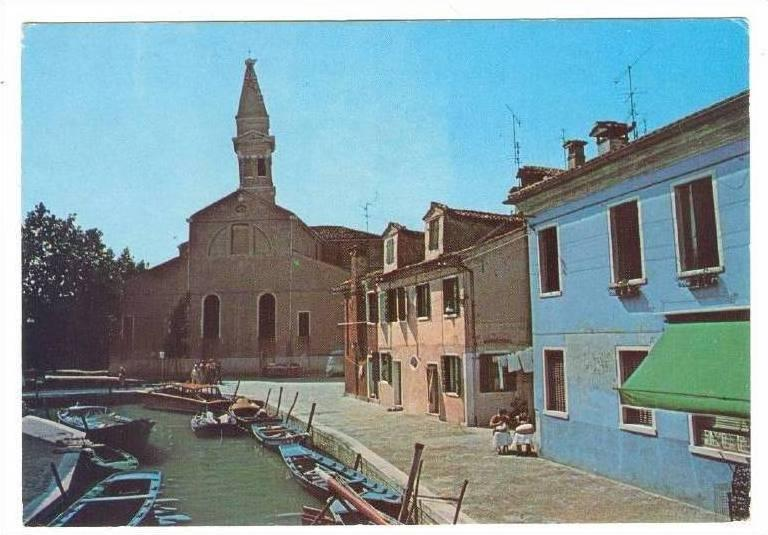 Cathedral & Canal Newfoundland, Burano (Venice), Italy, 50-70s