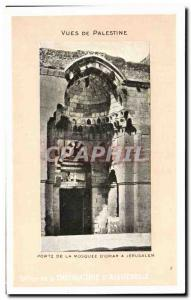 Old Postcard Views From Palestine Door The Mosque of Omar A Jerusalem