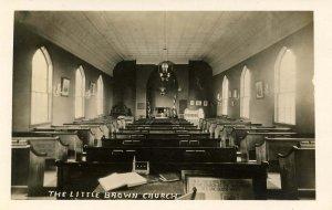 IA - Nashua. The Little Brown Church, Interior.  *RPPC