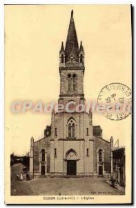 Postcard Old Oudon Loire Inf Church