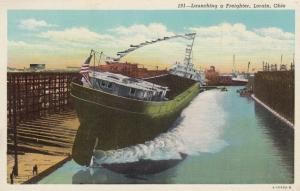 LORAIN , Ohio , 1910s ; Launching a Freighter