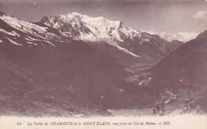 France Chamonix Mont Blanc Vue prise du Col de Balme