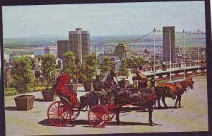 P1465 1967 unused postcard french horsedrawned carriages montreal canada
