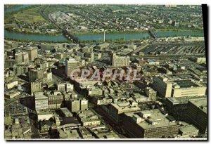 Modern Postcard Aerial View Downtown Winnipeg Manitoba Canada