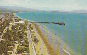 Costa Rica Puntarenas Aerial View Of Beach and Tourists Promenade 1978