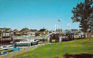 Maine Ogunquit Artist Colony And Drawbridge At Perkins Cove