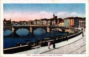 CPA PISA lungarno Mediceo e il ponte alla Fortezza. ITALY (468082)