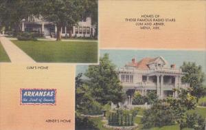 Homes Of Those Famous Radio Stars Lum And Abner Mena Arkansas