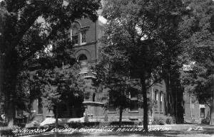 Abilene Kansas Dickinson Court House Real Photo Antique Postcard K64024