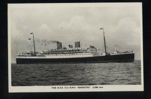 LS2099 - New Zealand Shipping Co Liner - Rangitiki - postcard plain back