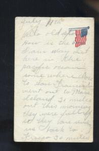 WWI SOLDIERS MAIL US FLAG SEDALIA MISSOURI CARROLL VINTAGE POSTCARD POSTAL CARD