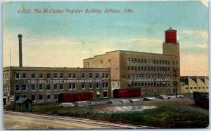 Alliance, Ohio Postcard The McCaskey Register Building Factory Office 1912