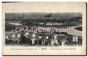 Old Postcard Metz Panorama Taken From St Quentin