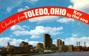Ohio Toledo Greetings Showing Skyline