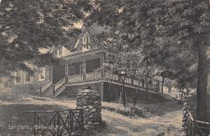 Cornwall New York~Langler Residence in the Woods~Rustic Gate Postcard c1910