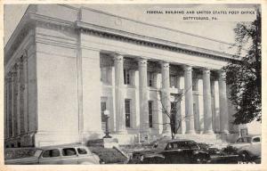 Gettysburg Pennsylvania Federal Bldg Post Office Antique Postcard K58389