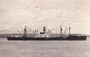 Les Baarn Dutch Cargo Ship Statistics Vintage Old RPC Postcard