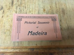Pictorial Souvenir of Madeira, vtg postcard set of 6 color cards