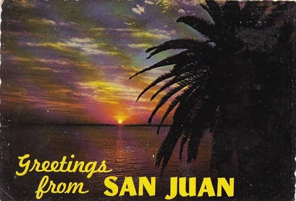 Puerto Rico Greetings from San Juan Tropical Sunset