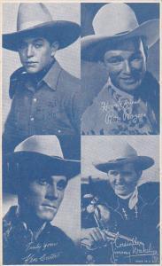 Cowboy Arcade Card Roy Rogers Ken Curtis Jimmy Wakely