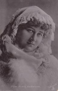 ACTRESS , Miss Mary Anderson , 1905 ; TUCK S 401