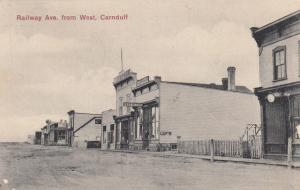 CARNDUFF , Saskatchewan, Canada, PU-1910; Railway Ave., from West, Post Office