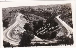 Oklahoma Hair Pin Curve Highway No 77 Real Photo