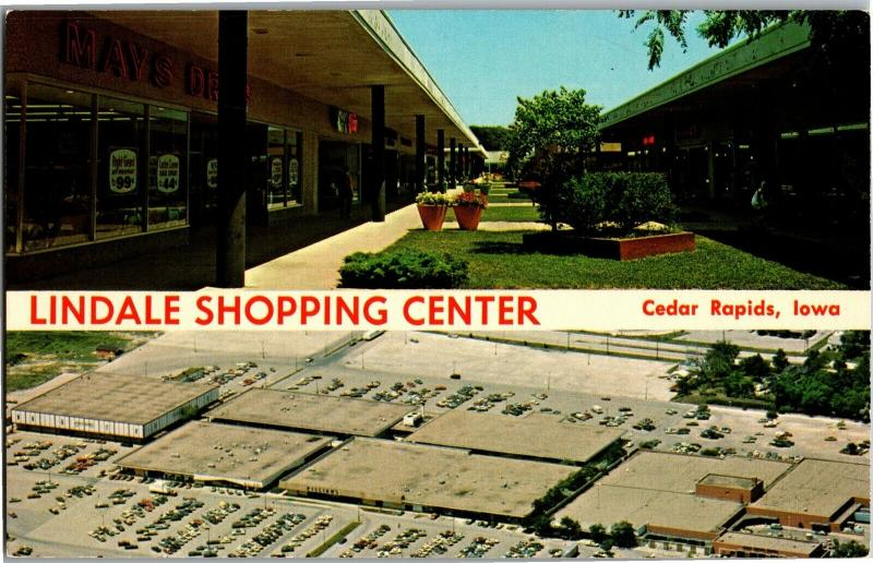 Lindale Shopping Center, Cedar Rapids Iowa Multi View Vintage Postcard N03