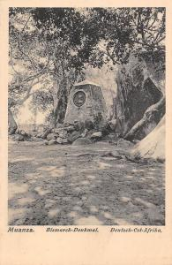 German East Africa Deutsch-Ost-Afrika, Tanzania Mwanza, Muanza, Bismarck-Denkmal