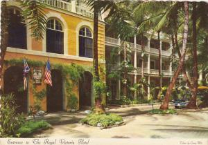 Bahamas Nassau Entrance To The Royal Victoria Hotel