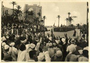 PC CPA LIBIA, AVVENIMENTI, Vintage REAL PHOTO Postcard (b16641)