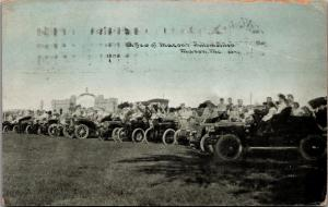 Macon Missouri~A Few of Macon's Automobiles Lined Up~Fort Blees~1913 CU Williams