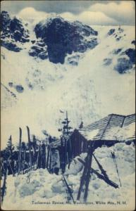 Tuckerman Ravine Mt. Washington White Mts NH Skis in Snow Postcard