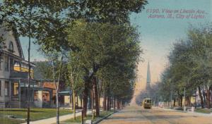 View on Lincoln Ave. , City of Lights , AURORA , Illinois ; 00s-10s