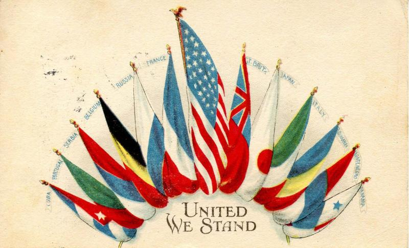 Patriotic - United We Stand WWI, Flags