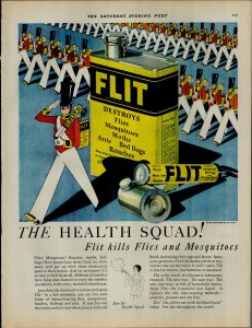 1927 Flit The Health Squad Kills Flies and Mosquitoes Vintage Print Ad 3897