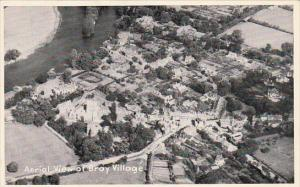 Aerial View Of Bray Village, Oxford, England, UK, 1910-1920s
