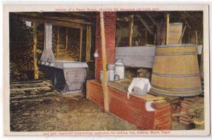 Interior of a Suga House, Maple Sugar
